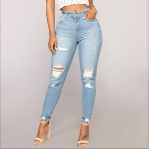 60ff41c9425 Fashion Nova Jeans | Distressed | Poshmark